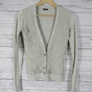Club Monaco Cardigan Sweater Womens XS Light Gray